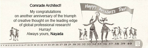 Photo Nayada congratulates you on Architect's Day!