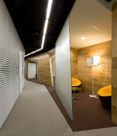 Nayada partitions in the office of Yandex