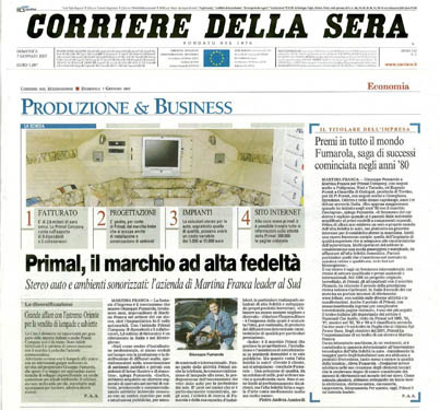 Photo An Italian daily newspaper Corriere della Sera writes about NAYADA