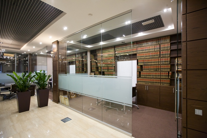 modern office partition. Modern Office Partitions. Emphasize The Respectability Of Interior, And Light Beige Tones Glass Constructions Partition E