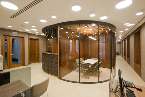 Photo Office interior in the style of a cruise ship: NAYADA's project for the Russian Mortgage Bank