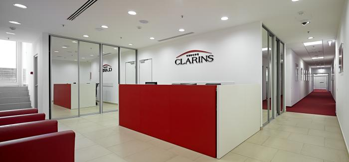 Photo Office in the spirit of corporate values: NAYADA project for the Clarins Cosmetics Company