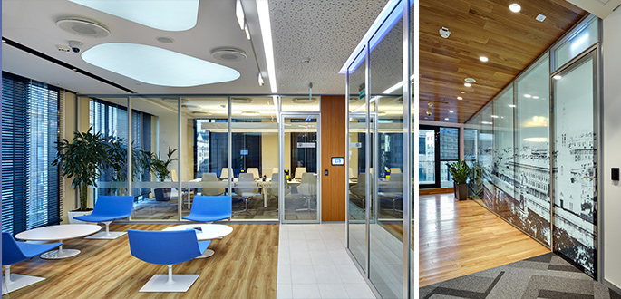 Photo NAYADA solutions used in Microsoft's new office in Moscow