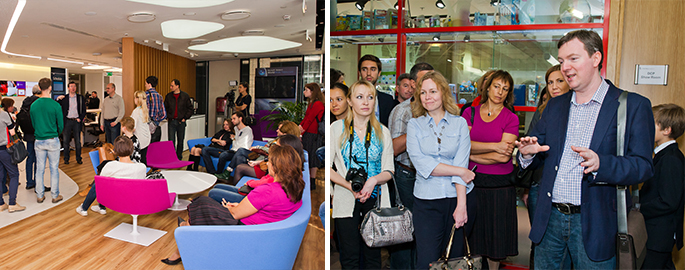 Photo NAYADA and architectural firm UNK project held a press tour of Moscow offices