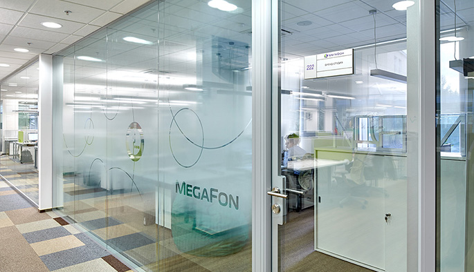 Photo NAYADA solutions implemented in the central office of MegaFon OJSC
