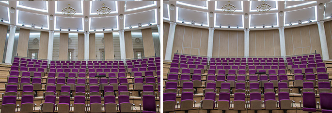 Photo NAYADA-Hufcor Acoustic sliding partitions at the Bolshoi Theater