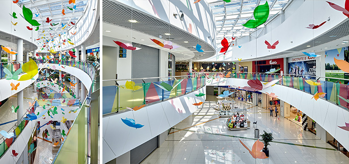 Photo NAYADA and the colorful interior of the Reutov Park SEC