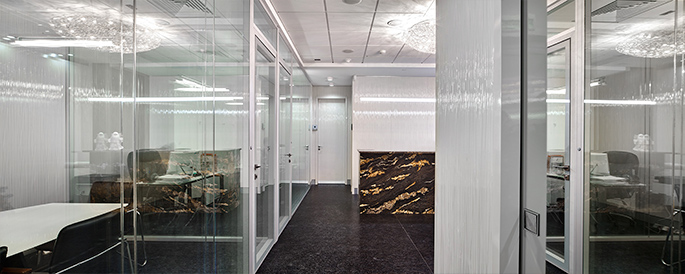 Photo A variety of textures and Materials: NAYADA for a Moscow company's office