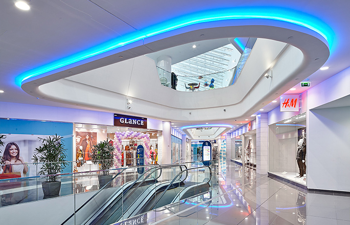 Photo NAYADA created the retail premises in the Vodniy Shopping Center