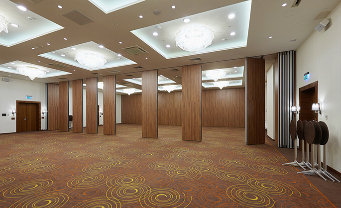 Photo NAYADA equips common interior areas of the Sheraton Sky Point Hotel