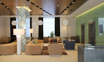 Photo NAYADA creates common areas in the Hilton Garden Inn Hotel in Ufa