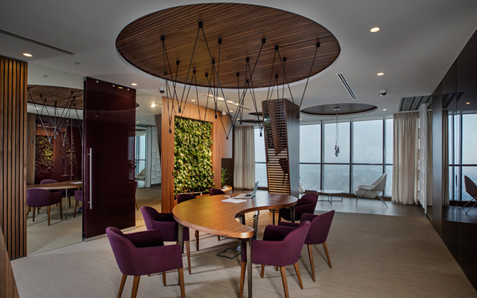 Photo NAYADA created an eco-office for VIP-clients of Sberbank in St. Petersburg
