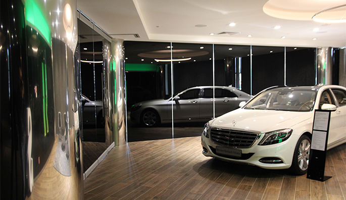 Photo NAYADA in the Mercedes-Benz Showroom in Kazan