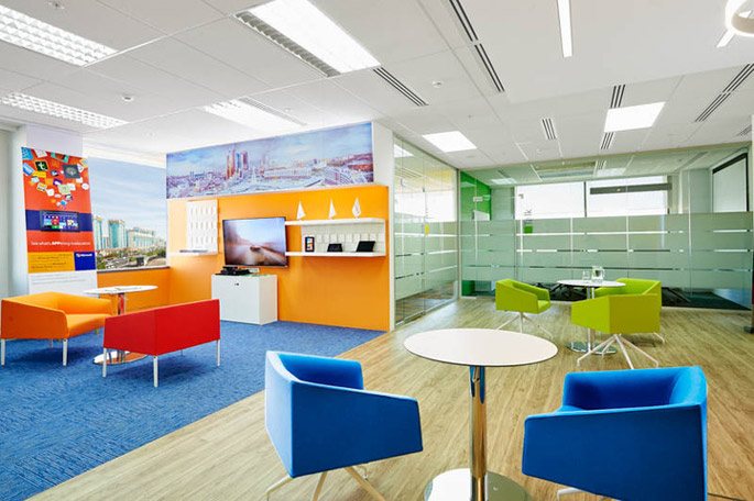 Photo An office project for Microsoft, in which NAYADA participated, received top honors at the Kazakhstan Interior Awards 2015