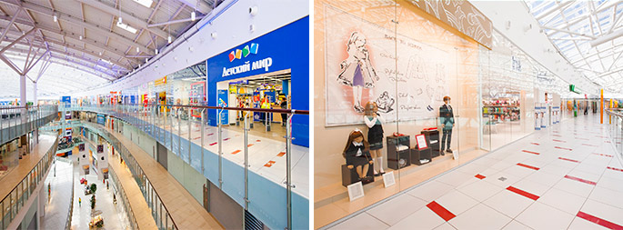 Photo NAYADA solutions used in Europe's largest shopping and exhibition center – the Aviapark