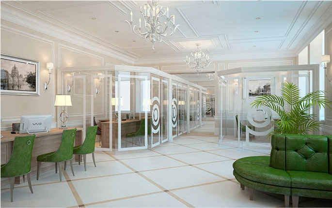 Photo NAYADA partitions and doors in the historic office of Sberbank in St. Petersburg