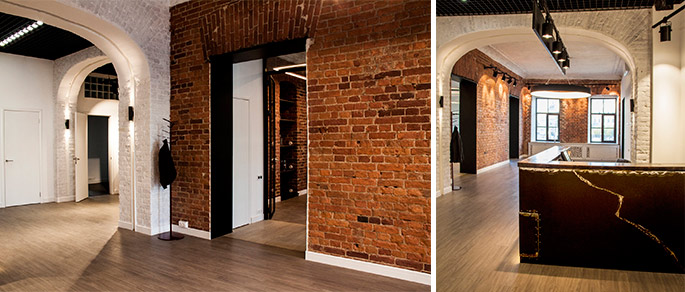 Photo NAYADA for a loft office in a historic building of St. Petersburg