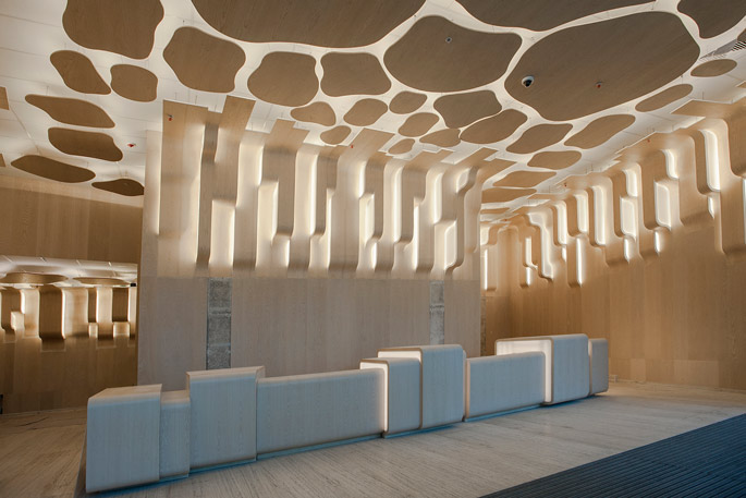 Photo Sun shining through the crowns: NAYADA creates public spaces in the Eurasia Tower