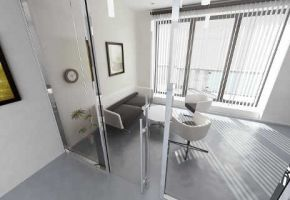 NAYADA-Standart systems roll in full-glass door is the optimum decision for the compact offices