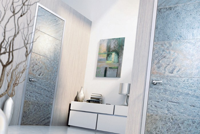 Photo NAYADA presents textured stone door