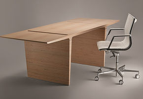 New version of the office for the executive PROFILE Plywood, by V. Kuzmin