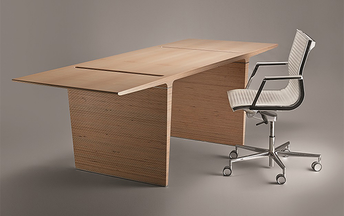 Photo New version of the office for the executive PROFILE Plywood, by V. Kuzmin