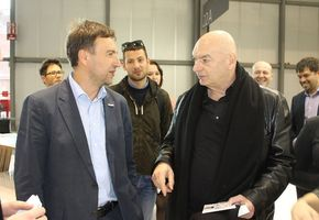 Jean Nouvel, a well-known architect, visited the exhibition stand of NAYADA at I Saloni 2013