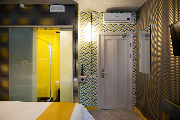Photo In art just like at home: NAYADA partitions and doors in CHE Art-Hotel