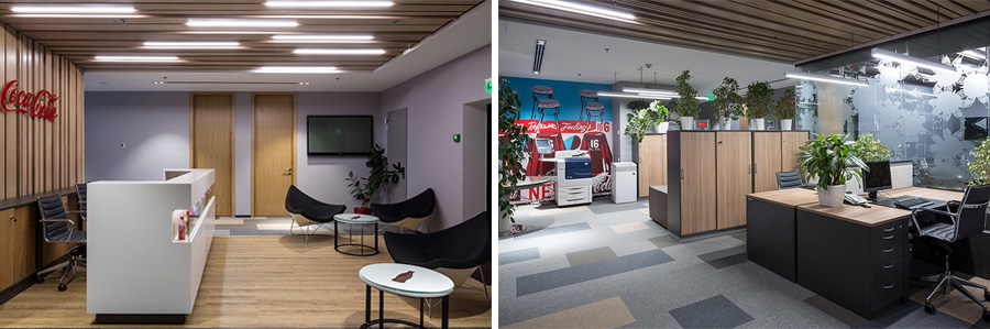 Photo Homelike environment in a modern office space: NAYADA for the Coca-Cola headquarters in Kiev