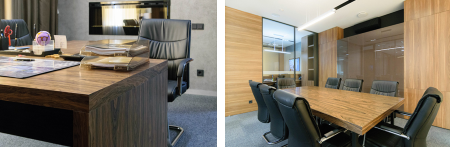Photo Modesty and functionality: NAYADA furniture for the DSM-Façade corporate office
