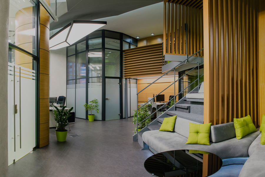 Photo Eco-style and deconstructivism for inspiration: Office for an IT company in Rostov-on-Don
