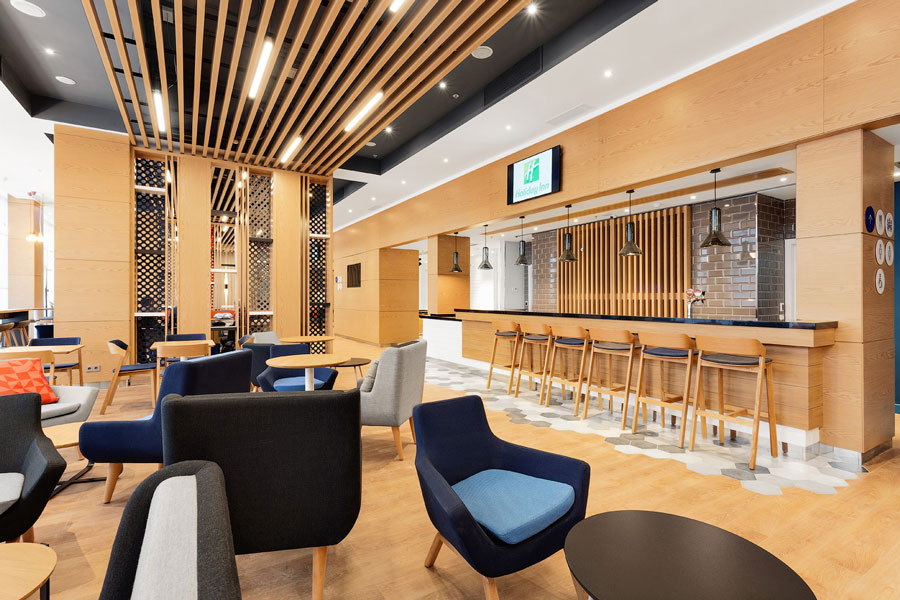 Photo Travel in comfort: NAYADA masters integrated development of public areas at Holiday Inn Express Sheremetyevo hotel