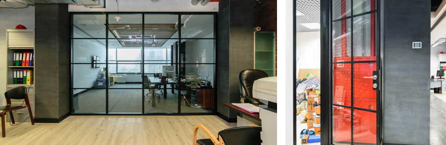 Photo Impressive design of the Quadro production partitions and doors: NAYADA for the Amaks office