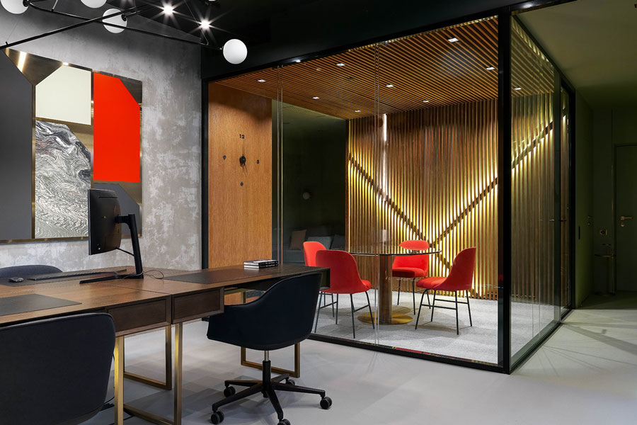 Photo 51 sq. m office & apartments: laconism and geometric highlights