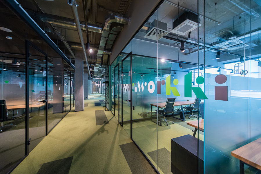 Photo NAYADA Decorated the Biggest Workki Network Co-Working in Moscow