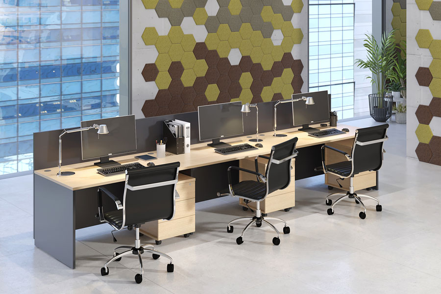 Photo LAVORO PANEL Panel-Support Operative Furniture Collection. PUZZLE Sound Absorbing Decorative Panels
