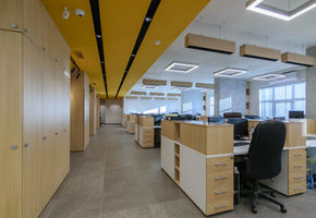 Wood interior solutions: NAYADA for DNK Corporation office
