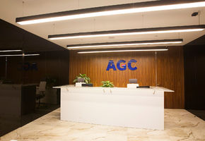 Сladding glass in project The Group of companies AGC