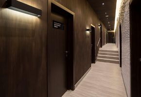Exclusive doors in project Encore Fitness