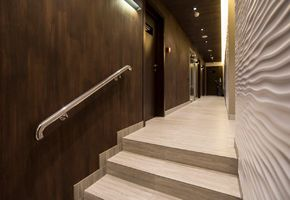 NAYADA-Parapetto Railing System in project Encore Fitness