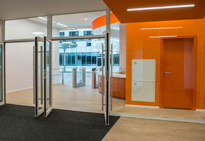 Fire resistant partitions in project Skolkovo Technopark