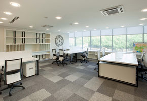 Office furniture. Workplaces in project ED&F Man