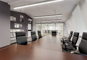 Office furniture. Workplaces in project Black Star