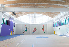 NAYADA-Fireproof EIW-60 in project The Skolkovo International Gymnasium in the Family Campus
