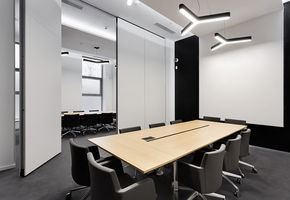 Operable partitions in project The office for a state corporation
