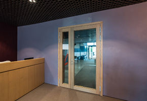 Fire-resistant glazed doors in project Office of the industrial company