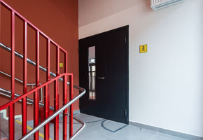 Fire-resistant glazed doors in project Buninsky Residential Complex